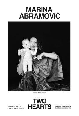 Poster Plakat Marina Abramovic Two Hearts