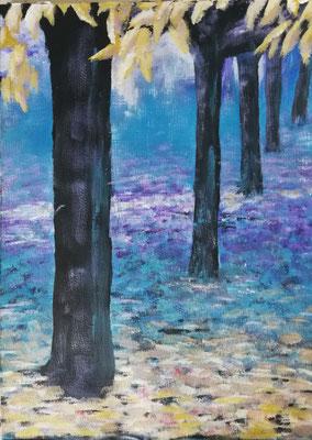 Der große Maler Herbst 2018, Acryl auf Papier 40x60, 250,-€