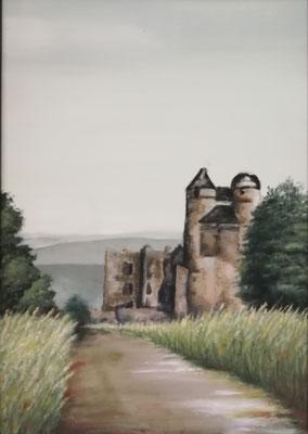 Burg Greifenstein 2016, Acryl auf Leinwand 50 x 70, vergeben