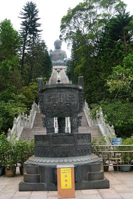 Die Treppe hoch zur Statue