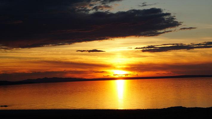 Sonnenuntergang, Sicht vom Zeltplatz