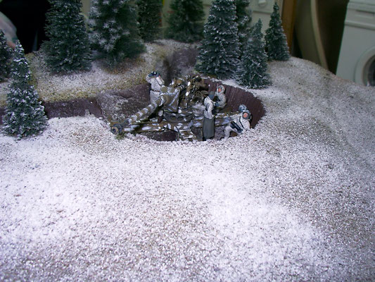 8,8cm Pak auf Behelfslafette am Westwall 1944