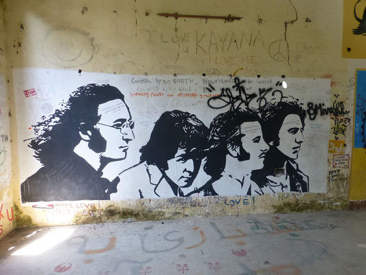 im Beatles Ashram in Rishikesh