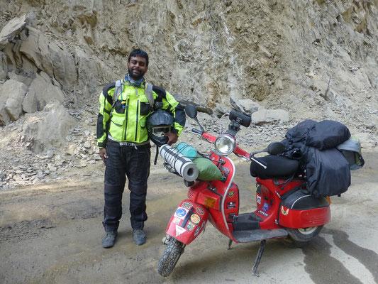 Roland, Scooter Nomad aus Südindien