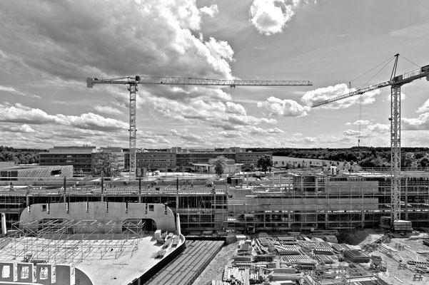 Baustelle Biomedizinisches Zentrum der LMU in Planegg