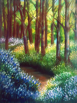 El bosque III. Técnica: Pastel. 30 x 40. Enmarcada.  450 €. Envío gratis.