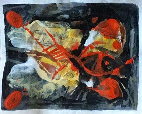 Abstracto en rojo II. Técnica: Mixta. Medidas: 23 x 29. Enmarcada. 150 €. Envío gratis.