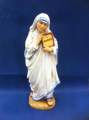 2g- Madre Teresa di Calcutta scultura in legno dipinta a  mano
