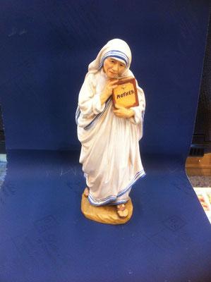 13g- Madre Teresa di Calcutta scultura in legno dipinta a mano