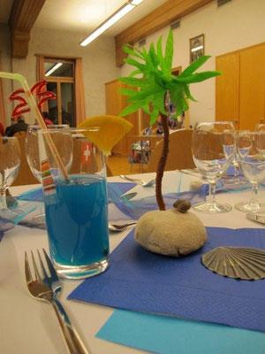 GV Tischdekoration: Jede bruucht sini Insel