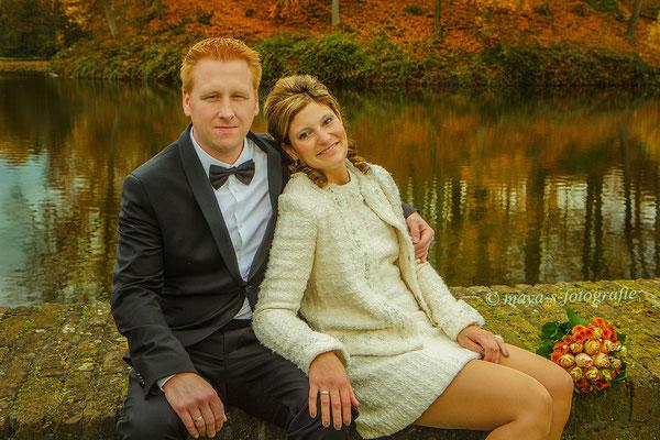 Für die Hochzeitsfotos mussten wir nur kurz vor die Tür gehen und hatten die perfekte Location…