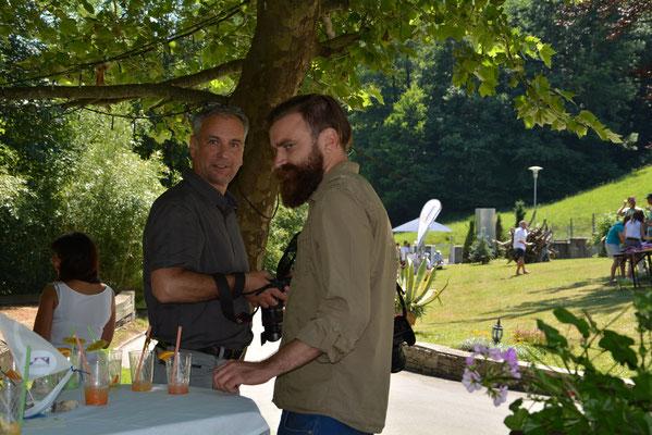 Fotograf Günter Krammer mit Fabian Rauber, Pressesprecher von Landesrat Ralf Holub