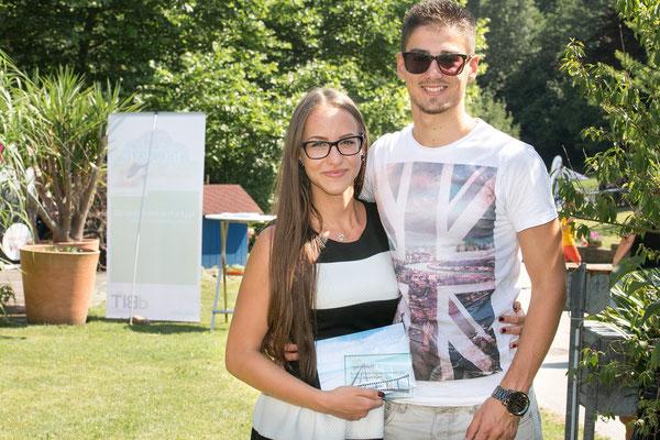 Dalila Nekic mit ihren Freund