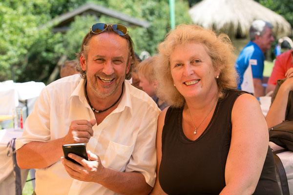 Harald Fasser von der Uniqua Versicherung und Christine Gaschler-Andreasch