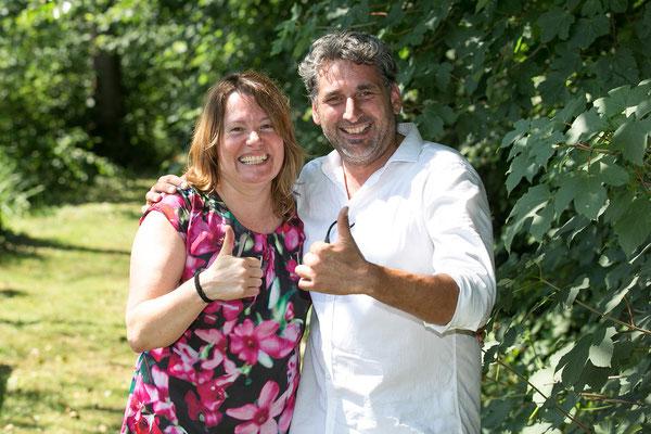 Claudia Hölbling und Michael Engelmayer freuen sich über das gelungene Fest