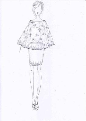 dessin-creation-sur-mesure-emmanuelle-gervy-robe-de-mariee-courte-grenoble