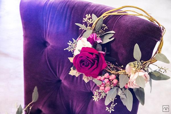 mariage-a-soie-decoration-table-champetre-couleur-rose-violet-médieval-isere
