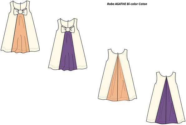 croquis-proposition-couleurs-robe-demoiselle-d'honneur-enfant-creation-sur-mesure-emmanuelle-gervy-grenoble