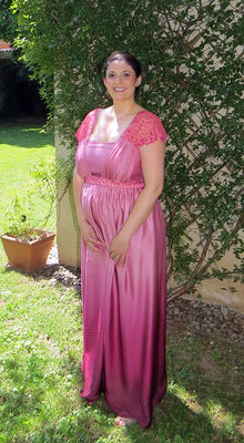 robe-longue-de-cocktail-soie-dégradée-de-rose-femme-enceinte-coupe-empire-emmanuelle-gervy-creation