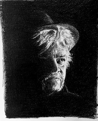Zelfportret (grafietstift)