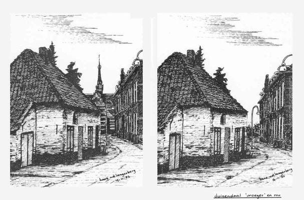 Kanunnikenhuisje voor en na de sloop van kapel Duinendaal