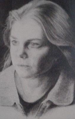 'Esther' (grafiet op papier)