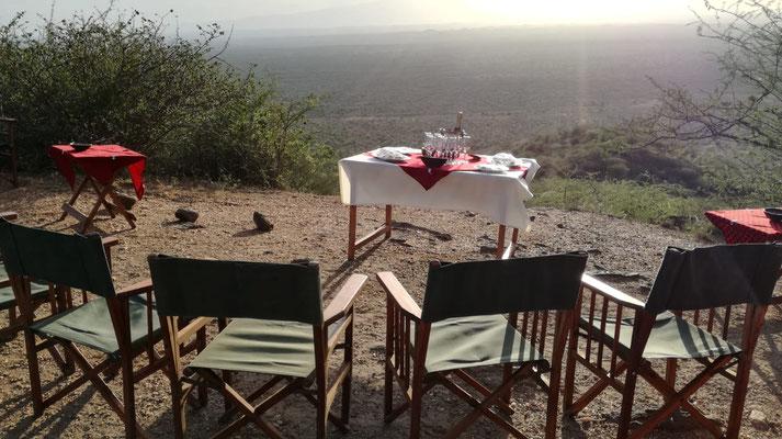 Sundowner am Poachers Lookout