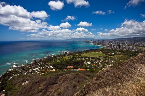 View on Waikiki. Oahu. Hawaii 2008