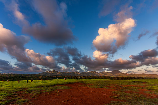 Kauai: Stop for sunset beside the road