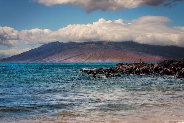 Maui: Outview from Maluaka Beach to Lanai