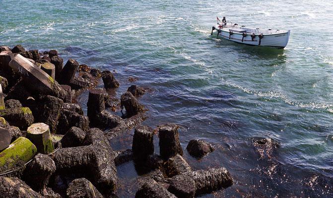 Börteboot / Einfahrt Nordosthafen