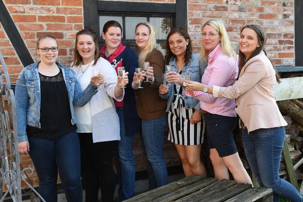 v. l.: Lena Kaack, Katharina Wendt, Imke Schorr, Johanna Weber, Jane Westphal, Dörte Treu, Imke Westphal