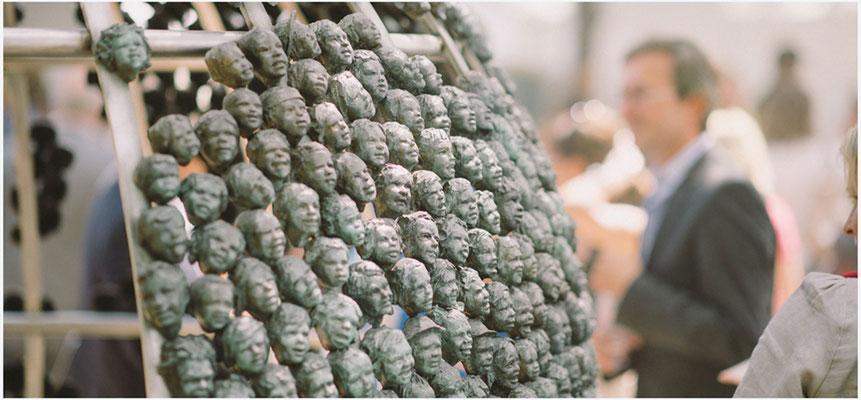 Buste, Sculpteur, Langloys, Regards d'enfants