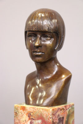 Buste-Louise-Brooks-Sculpteur-Langloÿs-Bronze