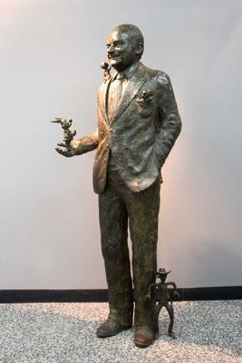 Buste, Statue, statue en bronze, Sculpture, Bronze, Goscinny, Sculpteur Langloÿs