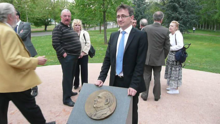 Buste-Sculpteur-Langloys-Bronze-Bas Relief-Fraçois-Mitterrand