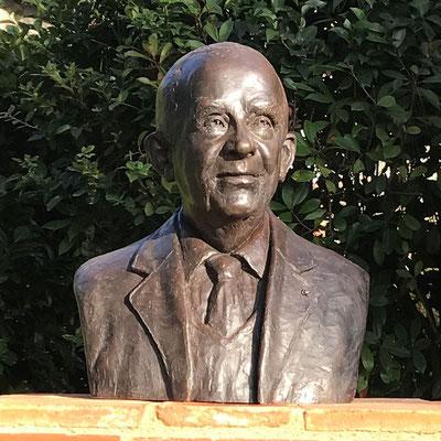 Buste, Sculpture, Buste en bronze, Buste d'après photos, Pierre Fabre, Sculpteur Langloÿs