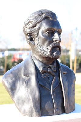 Buste-Sculpture-Sculpteur-Langloys-Art-Œuvre-Bronze-AnselmeMathieu