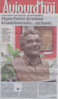 Article La Dépêche, presse,  sculpteur Langloÿs