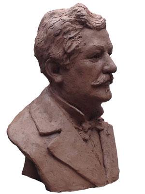 Buste, Buste d'Eugène Secrétan, Sculpteur Langloÿs