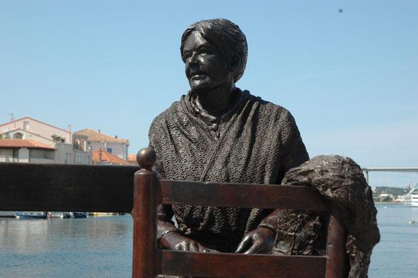 Buste, Sculpteur, Langloys, Pecheur Et Ramendeuse, Groupe statuaire, Bronze, Port de Martigues