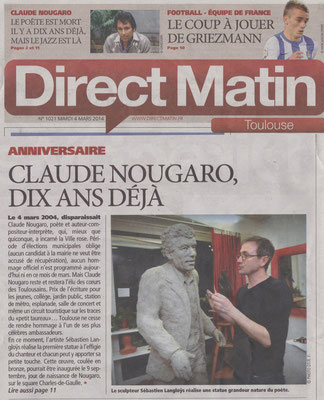 Article, presse,  sculpteur Langloÿs