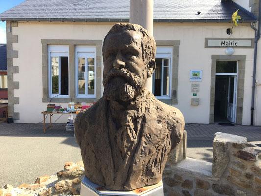 Buste, Jaurès, Sculpture, Langloÿs sculpteur