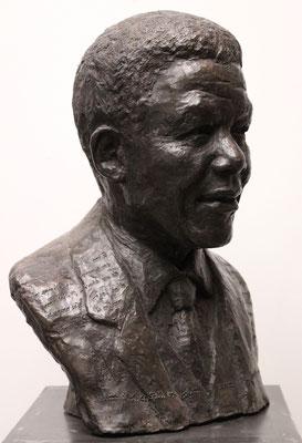 Buste, Statue, Buste Nelson Mandela, Nelson Mandela, Sculpteur Langloÿs
