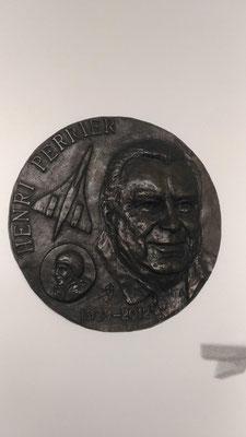 Buste-Sculpteur-Langloys-Bas Relief-Bronze-Henri-Perrier
