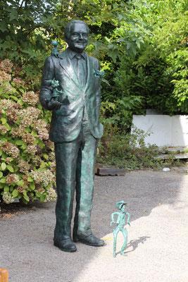 Buste, Statue, Buste en bronze, Sculpture, Bronze, Goscinny, Sculpteur Langloÿs