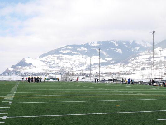 American Football Mannschaft bei Saisonvorbereitung