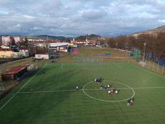 American Football Trainingslager Drohnenbild