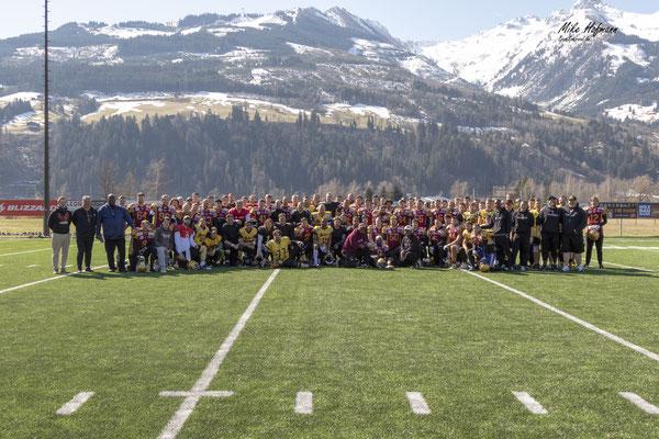American Football Mannschaft Saisonvorbereitung