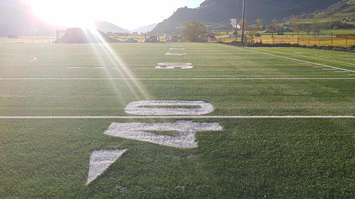 American Football Field 40 Yard Linie